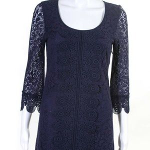 Laundry Purple Knit Long Sleeve Dress - Size 2